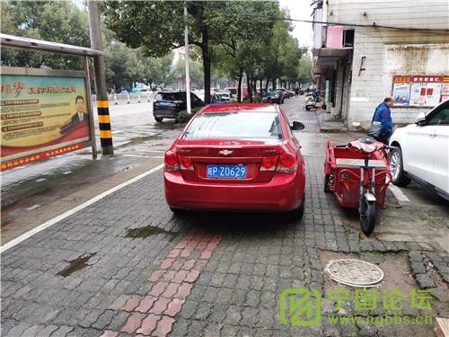 城管局对01月11日城区人行道违法停车进行曝光 - 宁国论坛 - Z0629.jpg