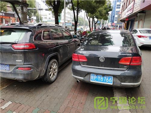 城管局对02月11日城区人行道违法停车进行曝光 - 宁国论坛 - Y8766.jpg